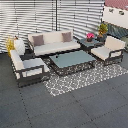 jardín salón muebles de jardín Marsella aluminio antracita