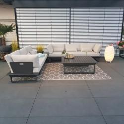 Gartenlounge Gartenmöbel  Lounge Set St.Tropez Aluminium Anthrazit modular modul, luxus exclusiv Rundecke