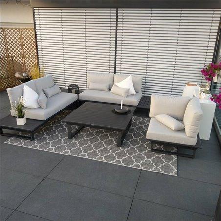 ICM garden lounge muebles de jardín Grenoble aluminium alu anthracite lounge set module
