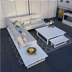 Garden lounge juego de muebles de jardín lounge lounge Grenoble aluminio antracita tumbona módulo de cama